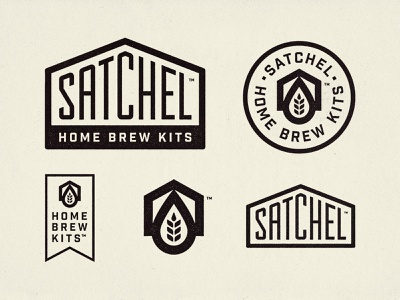 Satchel Home Brew Kits grain house home bold beer americana industrial vintage craftbeer brewing brewery stamp logo satchel