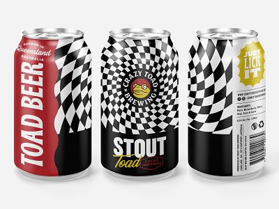 Toad beer can label beer label craft beer beer can beer branding beer art craftbeer beer