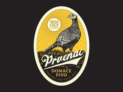 Kojic Lager peasant lager craftbeer vintage beer label beer branding beer art craft beer beer