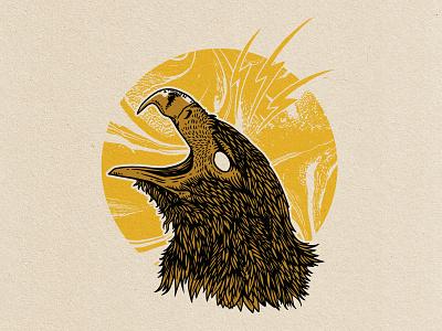 Eagle nature spiritanimal native eagle logo apparel illustration vintage light lightning golden eagle sun