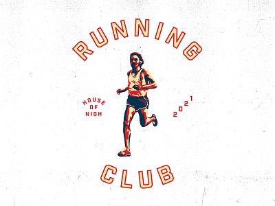 Running Club america usa houseofnigh runner running logo streetwear apparel vintage t shirt graphic design design illustration
