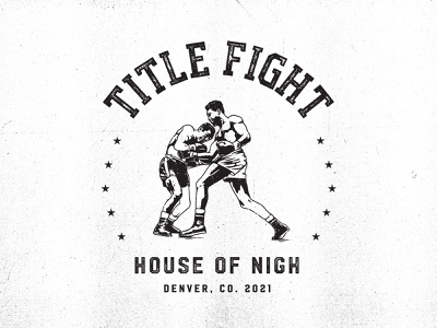 Title Fight apparel t shirt american usa title fight fight boxing box blacn and white grunge vintage logodesign logo graphic design illustration