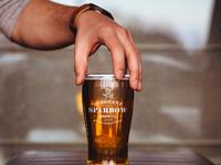 Sergeant sparrow beer glass