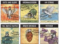 Sergeant sparrow brew co labels