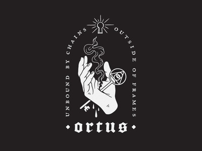 Ortus occult white black keyhole light truth spirit pain hand key ortus