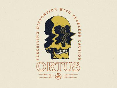 Ortus illustration esoteric geometry geometric distortion skull ortus