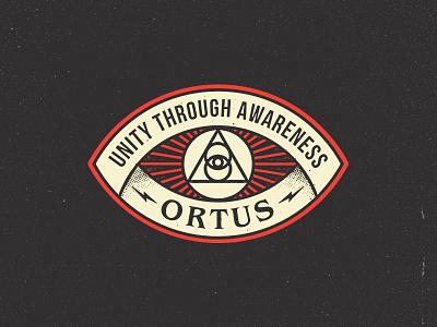 Unity Badge light sun esoteric occult retro vintage logo icon patch badge unity ortus