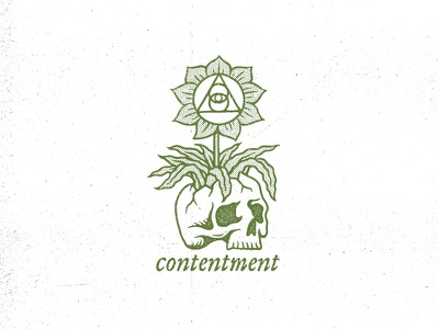 Contentment esoteric occult plant grunge life death flower skull contentment ortus