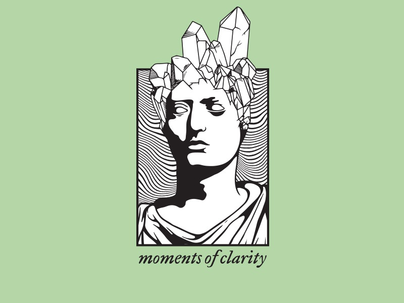 Moments Of Clarity clarity enlightenment queen king crystal logo sticker illustration ortus