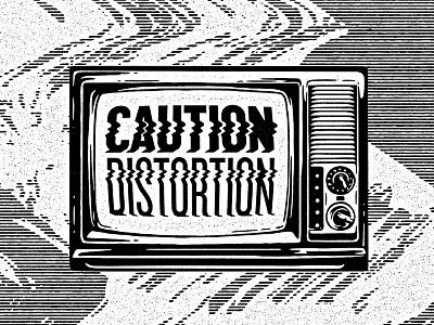 Caution Distortion ortus glitch grunge grain vintage retro distortion cautions