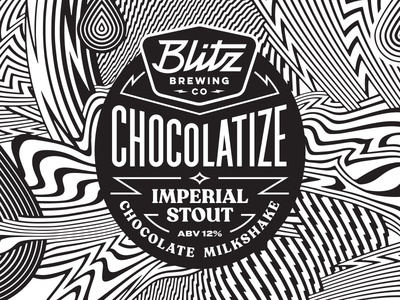 chocolatize lines abstract pattern badge layout label brewing brewry beer