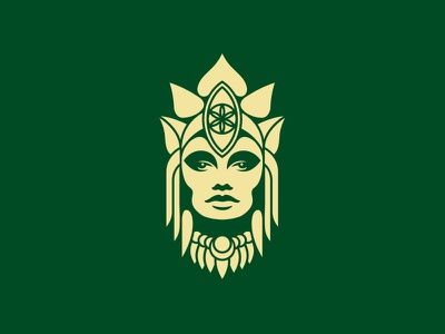 Nithya native flower organic lotus goddess natural nature icon logo