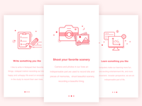 Features page design
