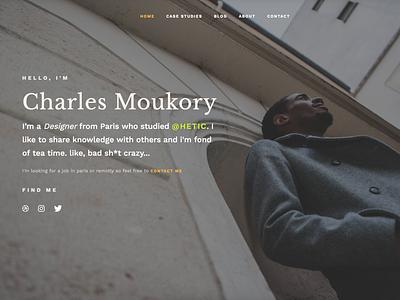 My Portfolio Is Out typography sketch interface photography ux ui website design portfolio