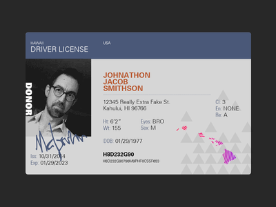 Hawaii License Redesign