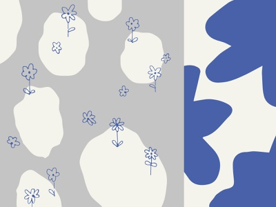 Flower Pattern cutouts floral drawing flowers doodles abstract illustration motif pattern design pattern flower