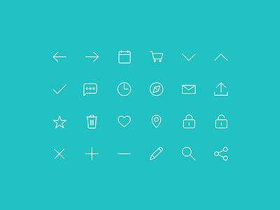 Bus.com Icon Set icon set symbol iconography glyphs flat pictograph ui icons icon bus.com