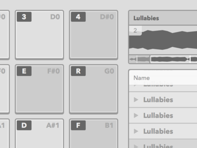 Sampler Wireframe sampler wireframe grayscale flat web app music wip interface ui ux avenir