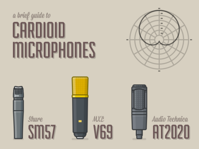A Brief Guide to Cardioid Microphones sketch vector 2d illustration simple flat microphone music