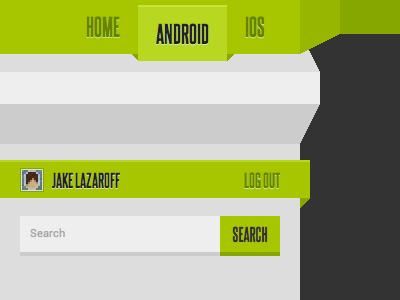 Angles css website interface navigation