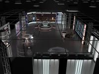 3D Virtual TV Studio News Set 6