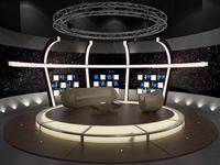 3D Virtual TV Studio Chat Set 20