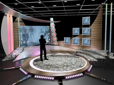 3D Virtual TV Studio Chat Set 11 production media design television stage broadcast news set tv set virtual set tv studio 3d