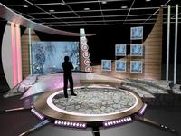 3D Virtual TV Studio Chat Set 11