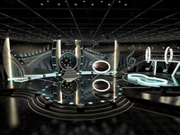 3D Virtual TV Studio Entertainment Set 1