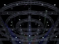 TV Studio Stage Truss and Lights.
