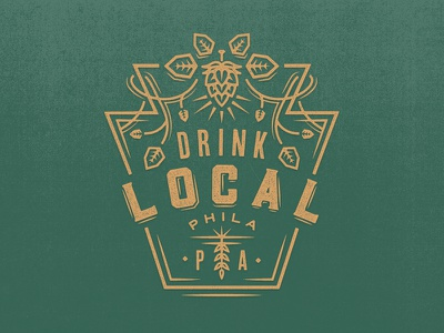 Drink Local wip philadelphia pennsylvania hops keystone drink local graphic tee t-shirt festival beer