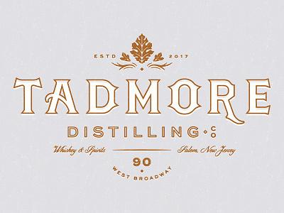 Tadmore Distilling Co. leaf lettering lockup identity logo branding whiskey distillery