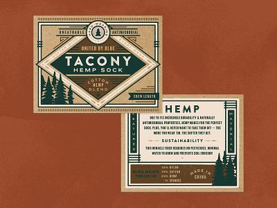 Tacony Sock Bellyband hemp branding socks belly band packaging