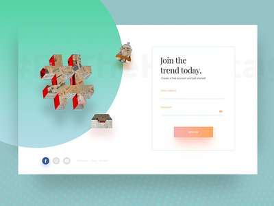 Daily UI #001- Sign Up Page