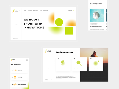 STIC responsive innovations sports site constructor gradients edges