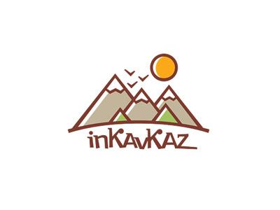 inKavkaz mountains sun birds logo landscape nature