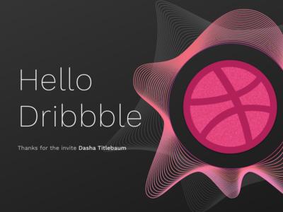 Debut Shot debut design wave sound ball hello dribbble invite first debut shot
