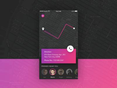Map App Concept ios ui design app map