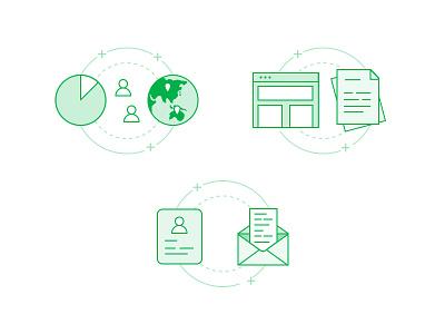 Illustrations content copywriting retargeting user email design web marketing