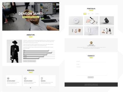 Profix Personal Portfolio WordPress Theme