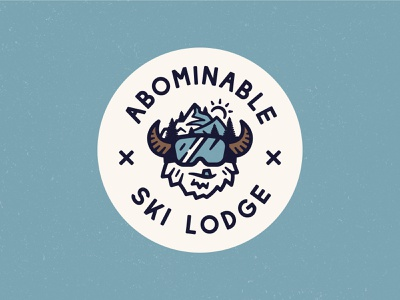 Abominable Ski Lodge snow vector character identity mountain colorado nashville abominable weekly challenge branding restaurant goggles sasquatch mountains lodge ski snowboard yeti logo
