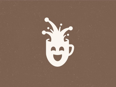 Court Jester coffee + comedy lounge nashville identity branding coffee shop new york expression beverage jester splash mug coffee logo restaurant logo logo mask theater laughing comedy coffee