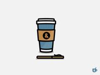Mock Logo 1 - Pen & Mug On-The-Go