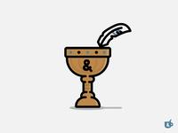 Mock Logo 3 - Quill & Goblet