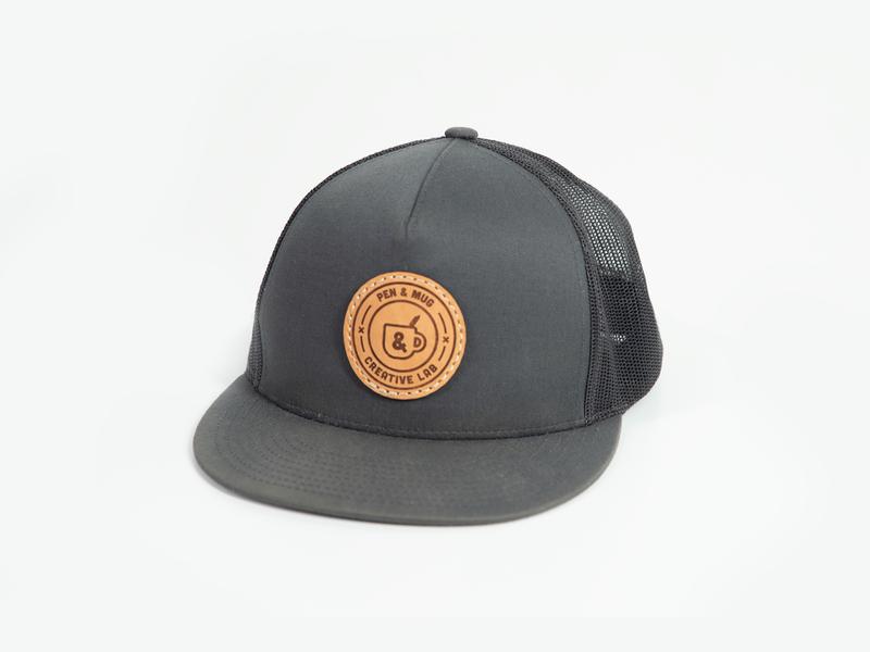 Pen & Mug creative lab hat product merchandise design merch trucker patch leather apparel badge branding coffee pen icon austin mug logo nashville