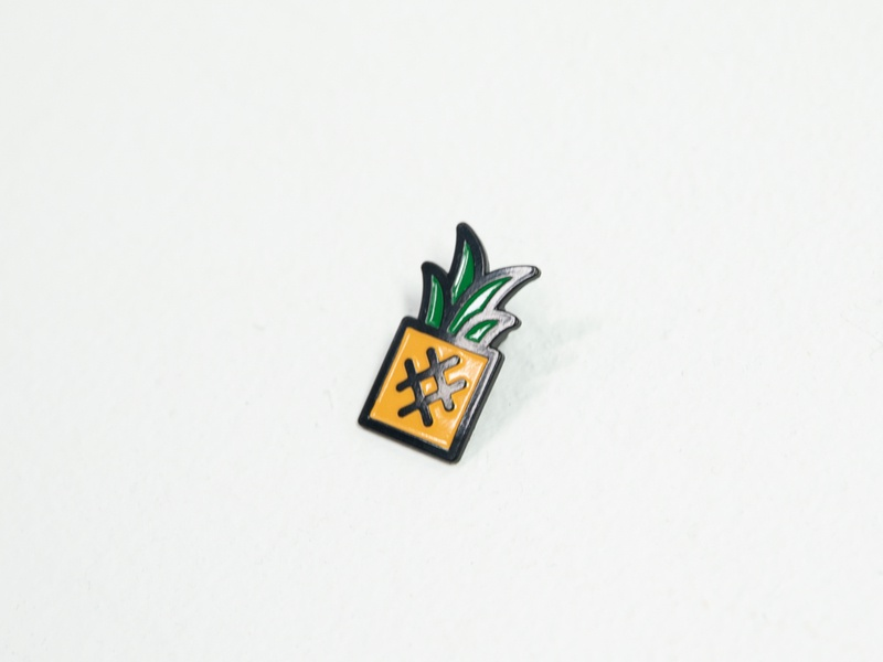 Pineapple pin lapelpin enamelpin pin enamel lapel simple branding austin icon illustration nashville california hawaii geometric food fruit ocean beach tropical pineapple