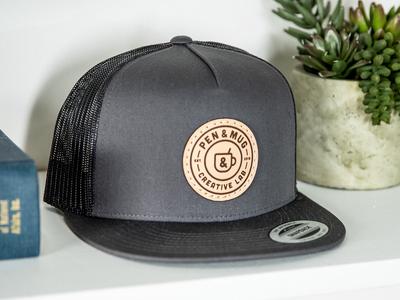 New Pen & Mug Hats! typography skate surf fashion apparel austin nashville branding design coffee logo badge logo stamp badge brand patch leather hat hat design