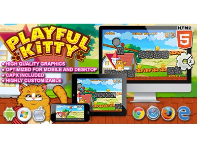 HTML5 Games: Playful Kitty