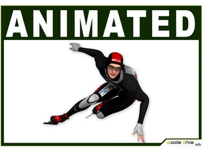 3D Model: Speed Skater CG