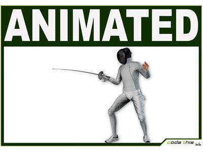 3D Model: White Fencer Cg
